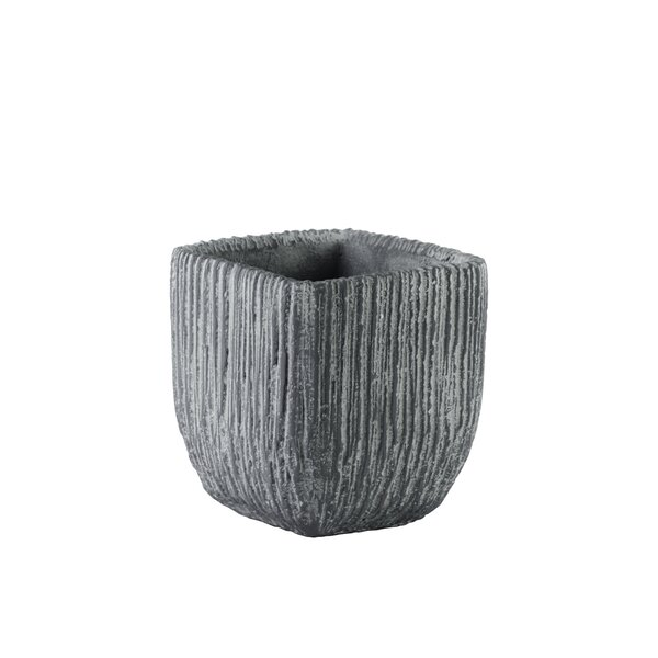Burchard Tapered Bottom Cement Pot Planter by Union Rustic