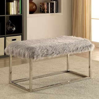 Agrippa Contemporary Metal Bench by Everly Quinn SKU:AD734030 Shop