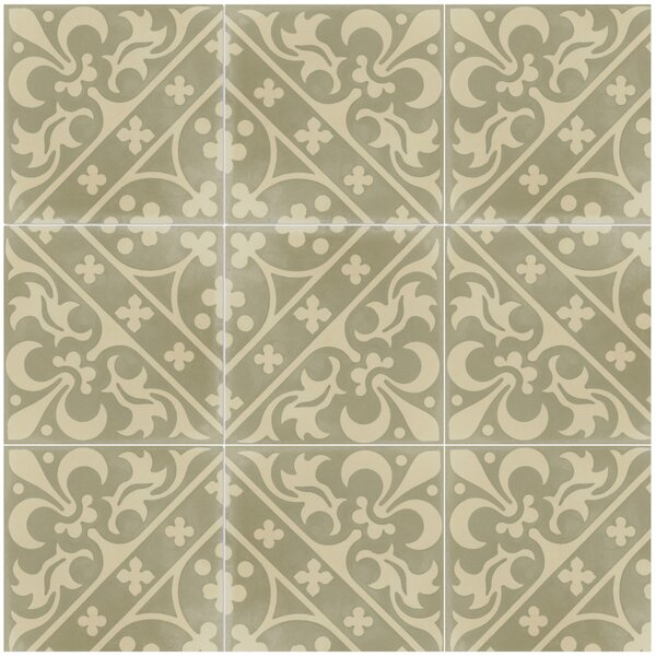Canterbury Sandstone 8 x 8 Cement Field Tile in Cream by Villa Lagoon Tile