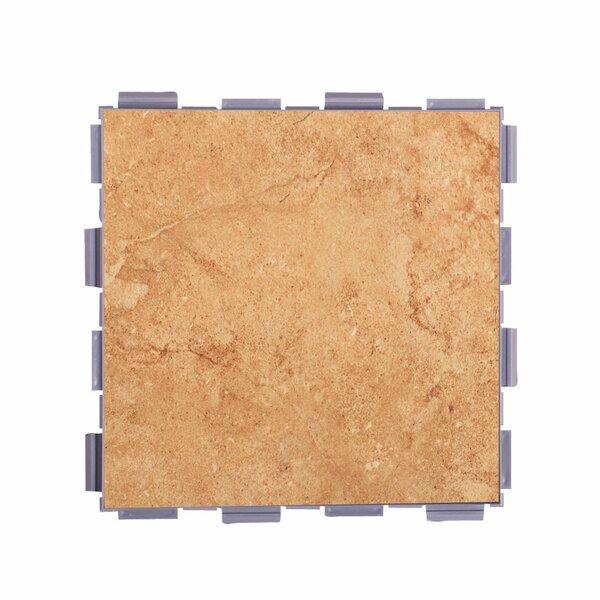 Classic Standard 6 x 6 Porcelain Field Tile in Mocha by SnapStone