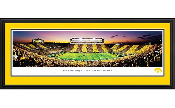 NCAA The University of Iowa - Spirit Week Deluxe Framed Photographic Print by Blakeway Worldwide Panoramas, Inc