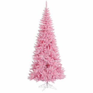 45 pink fir artificial christmas tree with 200 pink lights with stand