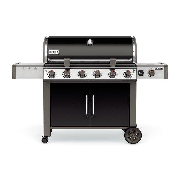 Genesis® II LX E-640 6-Burner Natural Gas Grill with Side Burner by Weber