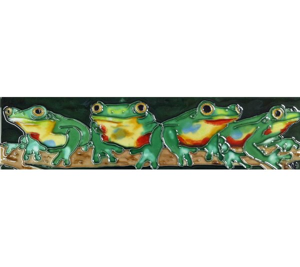 Horizontal Frogs Tile Wall Decor by Continental Art Center