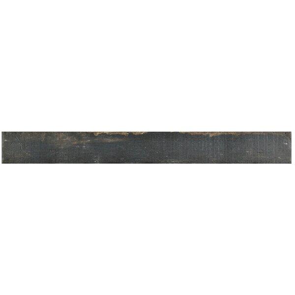 Rama 2.75 x 23.5 Porcelain Wood Look/Field Tile in Black by EliteTile