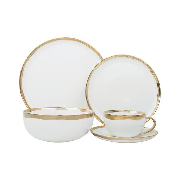 Dauville 5 Piece Place Setting, Service for 1 by Canvas Home