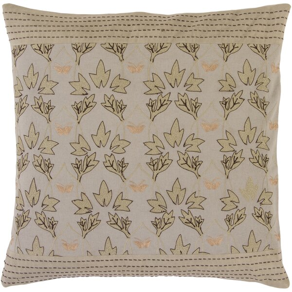 Roundtree Fall Leaves Cotton Throw Pillow by Red Barrel Studio