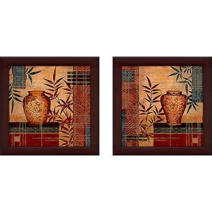 Kyushu' 2 Piece Framed Acrylic Painting Print Set Under Glass by World Menagerie