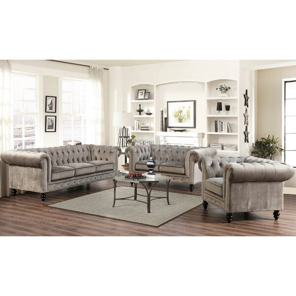 Brooklyn 3 Piece Living Room Set By Mistana by Mistana Design