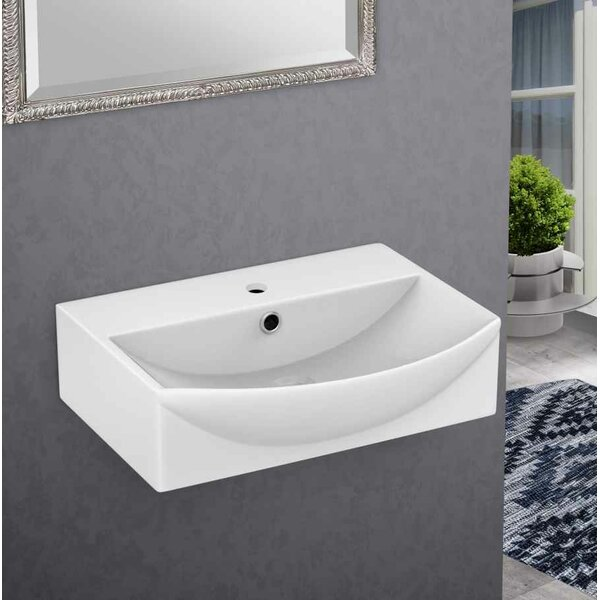Ceramic 19.5 Bathroom Sink with Faucet and Overflow by Royal Purple Bath Kitchen