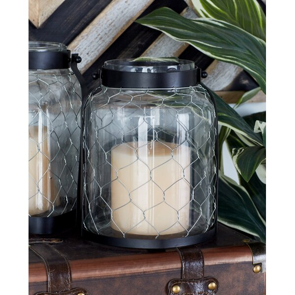 Metal and Glass Lantern by Cole & Grey
