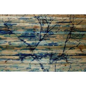'Trees In Blue' by Parvez Taj Painting Print on Natural Pine Wood by Parvez Taj