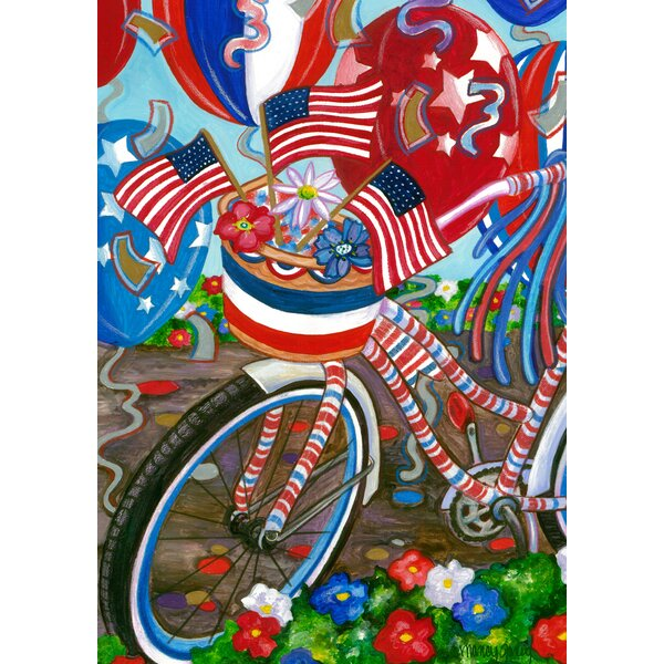 Patriotic Pedals 2-Sided Garden flag by Toland Home Garden