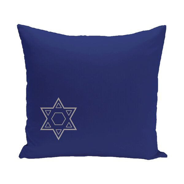 Holiday Geometric Print Star of David Throw Pillow by The Holiday Aisle