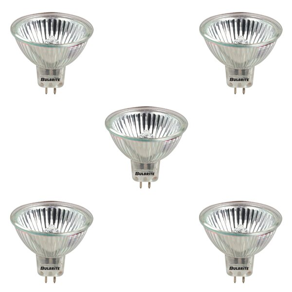 50W GU5.3 Dimmable Halogen Spotlight Light Bulb (Set of 5) by Bulbrite Industries