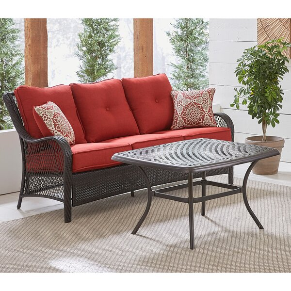 Insley 2 Piece Rattan Sofa Set with Cushion by Alcott Hill