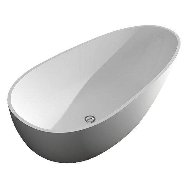 Marisol Grande 67 x 33 Freestanding Soaking Bathtub by Transolid