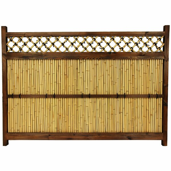 4 ft. H x 5.5 ft. W Japanese Zen Garden Fence Panel by Oriental Furniture