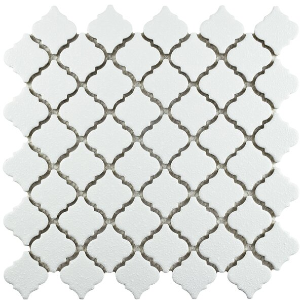Pharsalia Minerva 12.38 x 12.5 Porcelain Mosaic Floor and Wall Tile in White by EliteTile