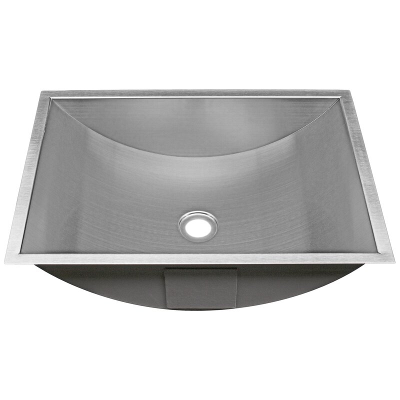Belfast Series Stainless Steel Rectangular Undermount Bathroom Sink