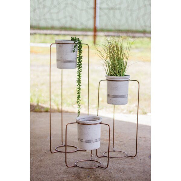 Pape Wash 3-Piece Copper/Clay Pot Planter Set by Gracie Oaks
