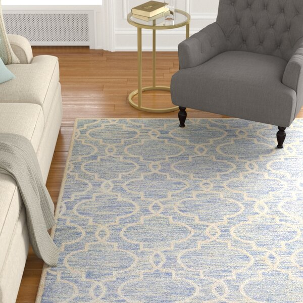 Willisville Hand-Woven Blue Area Rug by Darby Home Co