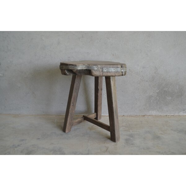 Agnon Live Edge Accent Stool by Loon Peak