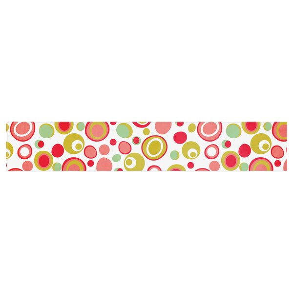 Louise Machado Bubbles Warm Circles Table Runner by East Urban Home