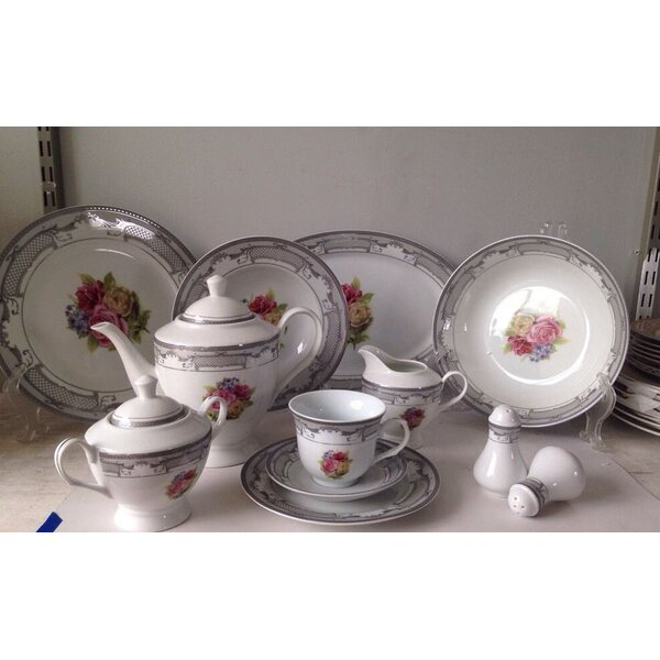 Floral 49 Piece Dinnerware Set, Service for 8 by Imperial Gift Co.