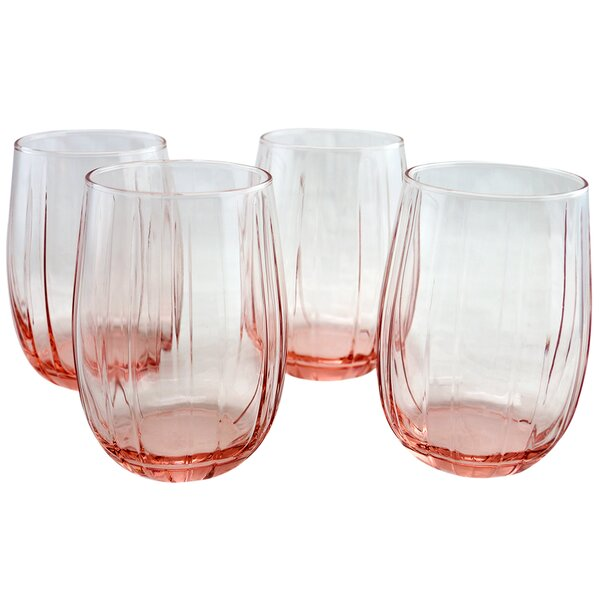 Moffett 12.75 oz. Glass Every Day Glass (Set of 4) by Bungalow Rose