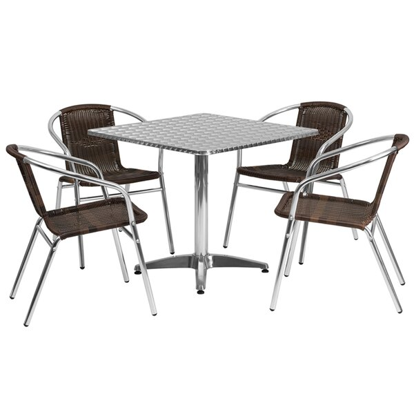 Penright Square Indoor and Outdoor 5 Piece Dining Set by Ebern Designs