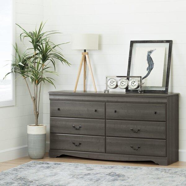 Volkman 6 Drawer Double Dresser by Three Posts