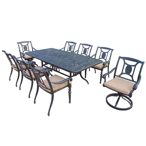 Zonia 9 Piece Dining Set with Cushion by Charlton Home