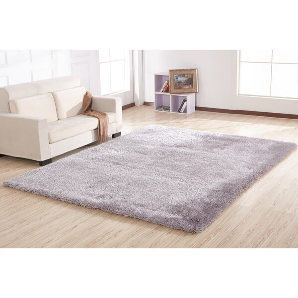 Housman Hand-Tufted Silver Area Rug by Zoomie Kids