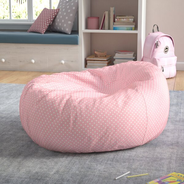 Polka Dots Cotton Bean Bag Chair by Viv + Rae