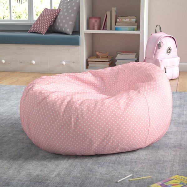 Polka Dots Cotton Bean Bag Chair by Viv + Rae