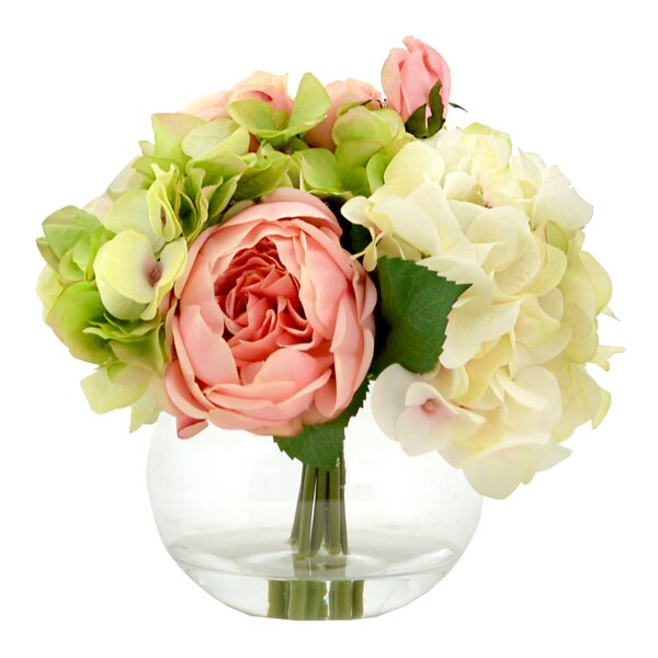 Faux Mixed Bouquet of Peony, Hydrangea and Roses by One Allium Way