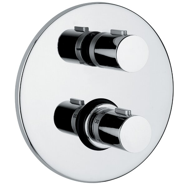 Linea Bathroom Thermostatic Shower Valve in Polished Chrome by WS Bath Collections