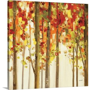 'Autumn Forest Study II' by Lisa Audit Painting Print on Canvas by Great Big Canvas