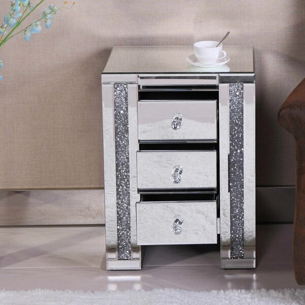 Corbitt 3 Drawer Nightstand 3 Drawer by Everly Quinn