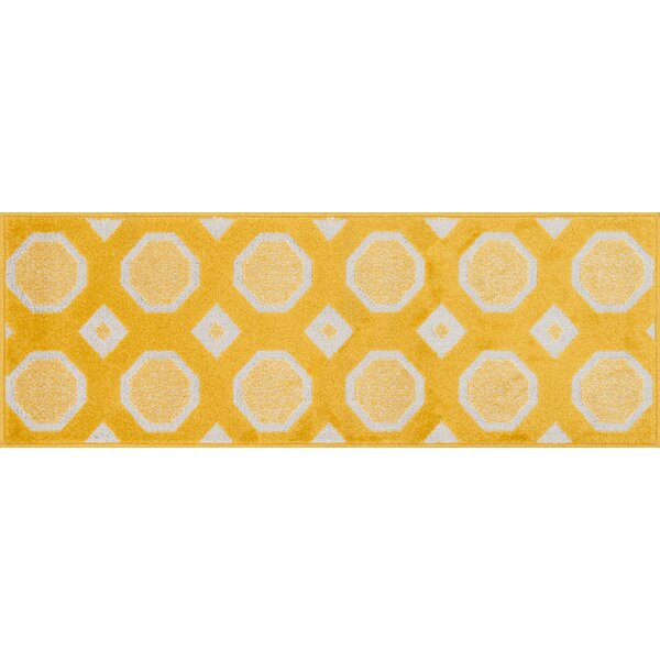 Laudenslager Lemon/Ivory Area Rug by Ebern Designs