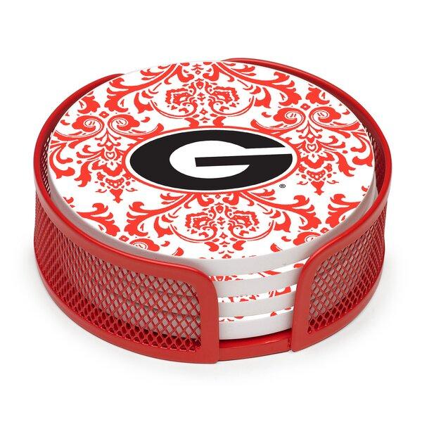 5 Piece University of Georgia Collegiate Coaster Gift Set by Thirstystone