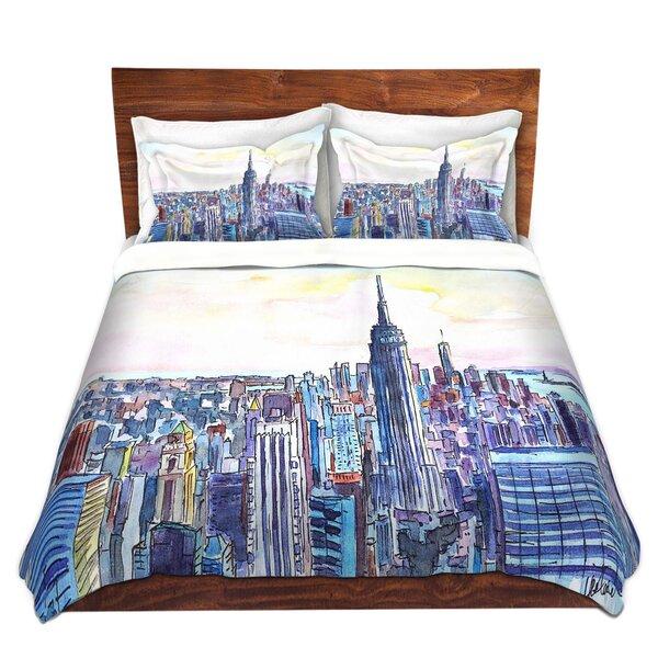 Schutte Markus Bleichner NYC Manhattan Skyline Microfiber Duvet Cover Set