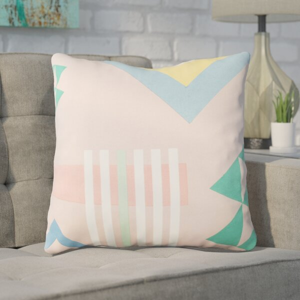 Clio Indoor Cotton Throw Pillow by Ivy Bronx