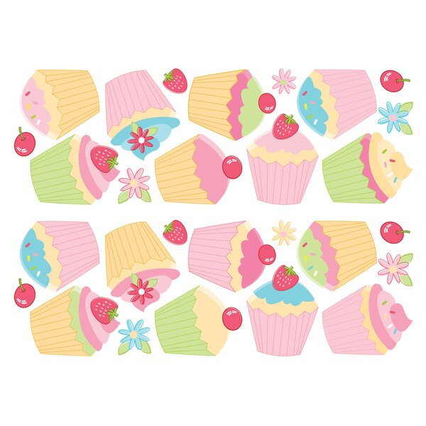 Euro Cupcake Wall Decal by Brewster Home Fashions