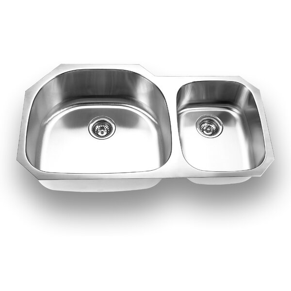 37.63 L x 20.88 W Undermount Double Bowl Kitchen Sink by Yosemite Home Decor