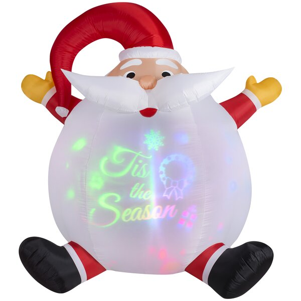 Panoramic Projection Santa Christmas Oversized Figurine by The Holiday Aisle