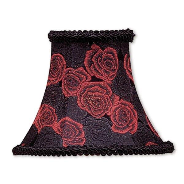 5 H Silk/Shantung Bell Candelabra Shade ( Clip On ) in Black/Red