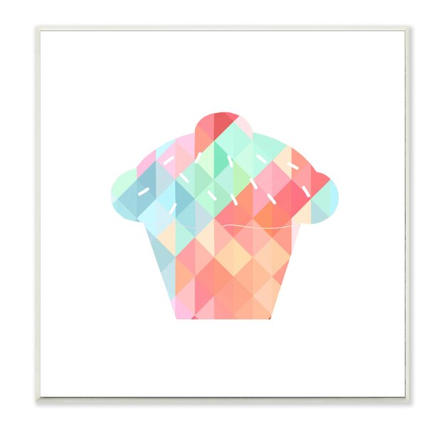 Graphic Rainbow Cupcake Wall Plaque by Stupell Industries
