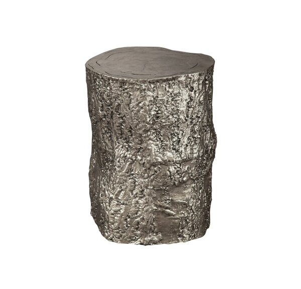 Bolick Nickel Tree Trunk Accent Stool by Union Rustic